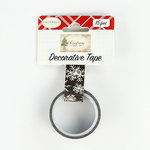 Carta Bella Paper - Christmas Collection - Decorative Tape - Chalkboard Snowflakes
