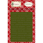 Carta Bella Paper - Christmas Collection - Embossing Folder - Merry Christmas
