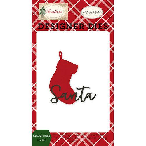 Carta Bella Paper - Christmas Collection - Designer Dies - Santa Stocking