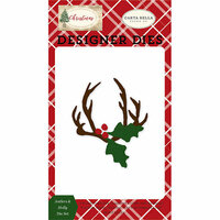 Carta Bella Paper - Christmas Collection - Designer Dies - Antlers and Holly