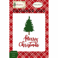 Carta Bella Paper - Christmas Collection - Designer Dies - Merry Christmas and Tree