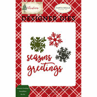 Carta Bella Paper - Christmas Collection - Designer Dies - Seasons Greeting's Snowflakes
