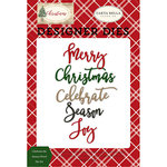 Carta Bella Paper - Christmas Collection - Designer Dies - Celebrate The Season Word