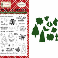 Carta Bella Paper - Christmas Collection - Designer Die and Clear Acrylic Stamp Set - Christmas Memories