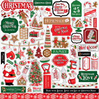 Carta Bella Paper - Christmas Cheer Collection - 12 x 12 Cardstock Stickers - Elements