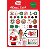 Carta Bella Paper - Christmas Cheer Collection - Self Adhesive Brads