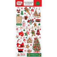 Carta Bella Paper - Christmas Cheer Collection - Chipboard Embellishments - Accents