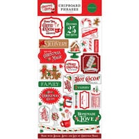 Carta Bella Paper - Christmas Cheer Collection - Chipboard Embellishments - Phrases