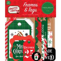 Carta Bella Paper - Christmas Cheer Collection - Ephemera - Frames and Tags