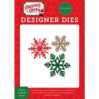 Carta Bella Paper - Christmas Cheer Collection - Designer Dies - Cheerful Snowflake