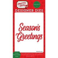 Carta Bella Paper - Christmas Cheer Collection - Designer Dies - Nostalgic Season's Greetings