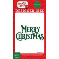 Carta Bella Paper - Christmas Cheer Collection - Designer Dies - Vintage Merry Christmas