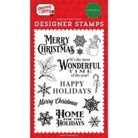 Carta Bella Paper - Christmas Cheer Collection - Clear Photopolymer Stamps - Most Wonderful Time