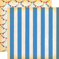 Carta Bella Paper - Circus Collection - 12 x 12 Double Sided Paper - Big Top Stripe