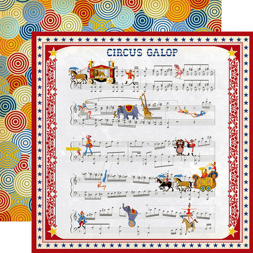 Carta Bella Paper - Circus Collection - 12 x 12 Double Sided Paper - Music Sheet