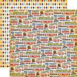 Carta Bella Paper - Circus Collection - 12 x 12 Double Sided Paper - The Greatest Show