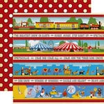 Carta Bella Paper - Circus Collection - 12 x 12 Double Sided Paper - Border Strips
