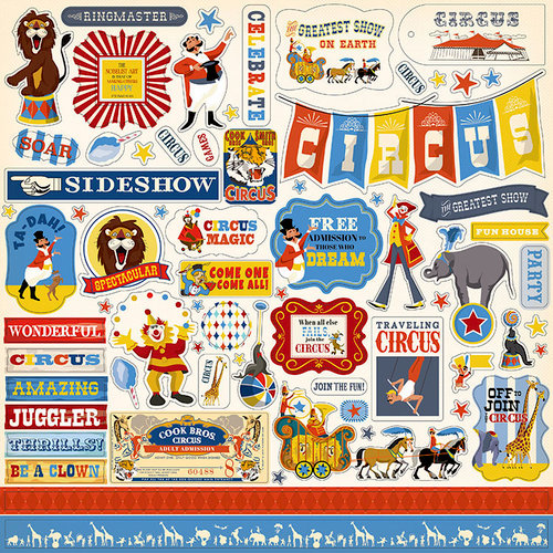 Carta Bella Paper - Circus Collection - 12 x 12 Cardstock Stickers