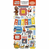 Carta Bella Paper - Circus Collection - Chipboard Stickers - Accents