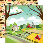 Carta Bella Paper - Country Kitchen Collection - 12 x 12 Double Sided Paper - Farm Land