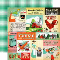 Carta Bella Paper - Country Kitchen Collection - 12 x 12 Double Sided Paper - Multi Journaling Cards