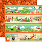 Carta Bella Paper - Country Kitchen Collection - 12 x 12 Double Sided Paper - Border Strips