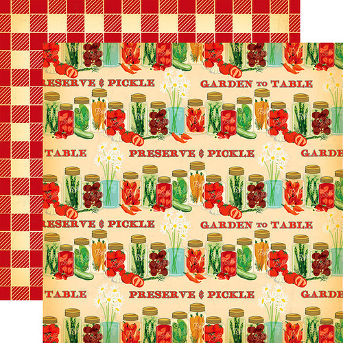 Carta Bella Paper - Country Kitchen Collection - 12 x 12 Double Sided Paper - Preserve and Pickle