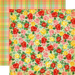 Carta Bella Paper - Country Kitchen Collection - 12 x 12 Double Sided Paper - Rose Garden