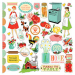 Carta Bella Paper - Country Kitchen Collection - 12 x 12 Cardstock Stickers