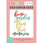 Carta Bella Paper - Country Kitchen Collection - Designer Dies - Home Garden Word