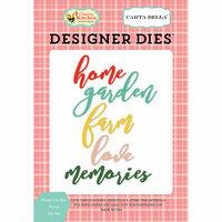 Carta Bella Paper - Country Kitchen Collection - Designer Dies - Home Garden Word