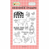 Carta Bella Paper - Country Kitchen Collection - Clear Photopolymer Stamps - Farm Fresh
