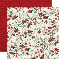 Carta Bella Paper - Christmas Market Collection - 12 x 12 Double Sided Paper - Holiday Floral