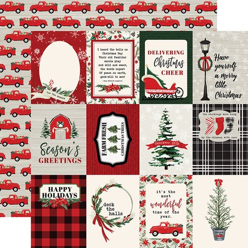 Carta Bella Paper - Christmas Market Collection - 12 x 12 Double Sided Paper - 3 x 4 Journaling Cards