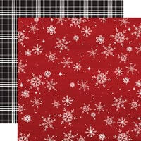 Carta Bella Paper - Christmas Market Collection - 12 x 12 Double Sided Paper - Snowflakes