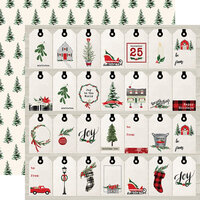 Carta Bella Paper - Christmas Market Collection - 12 x 12 Double Sided Paper - Gift Tags