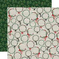 Carta Bella Paper - Christmas Market Collection - 12 x 12 Double Sided Paper - Wreaths