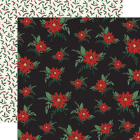 Carta Bella Paper - Christmas Market Collection - 12 x 12 Double Sided Paper - Poinsettias
