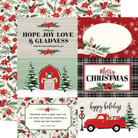 Carta Bella Paper - Christmas Market Collection - 12 x 12 Double Sided Paper - 4 x 6 Journaling Cards
