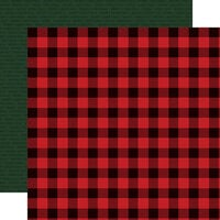 Carta Bella Paper - Christmas Market Collection - 12 x 12 Double Sided Paper - Buffalo Plaid