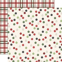 Carta Bella Paper - Christmas Market Collection - 12 x 12 Double Sided Paper - Ornaments
