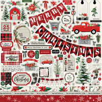 Carta Bella Paper - Christmas Market Collection - Cardstock Stickers - Elements