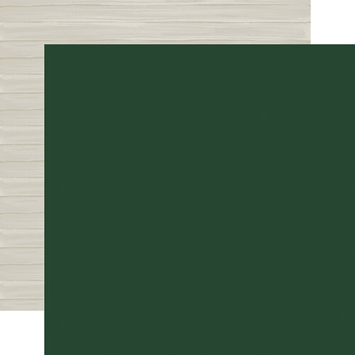 Carta Bella Paper - Christmas Market Collection - 12 x 12 Double Sided Paper - Dark Green