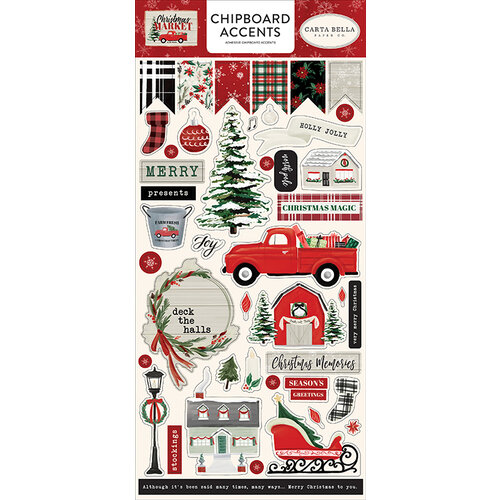 Carta Bella Paper - Christmas Market Collection - Chipboard Stickers - Accents
