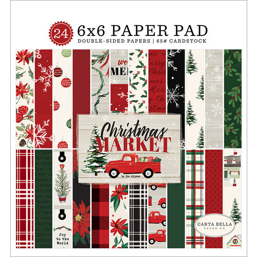 Carta Bella Paper - Christmas Market Collection - 6 x 6 Paper Pad