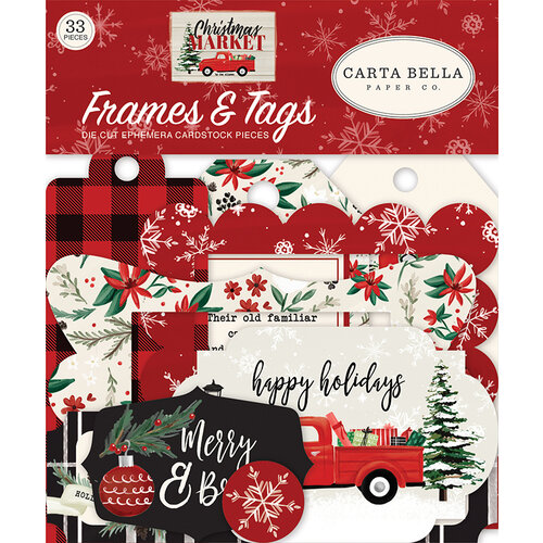 Carta Bella Paper - Christmas Market Collection - Ephemera - Frames and Tags