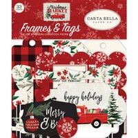 Carta Bella Paper - Christmas Market Collection - Ephemera - Frames and Tags