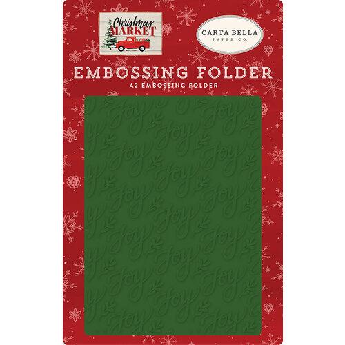Carta Bella Paper - Christmas Market Collection - Embossing Folder - Joy