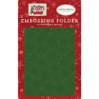 Carta Bella Paper - Christmas Market Collection - Embossing Folder - Market Snow
