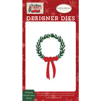 Carta Bella Paper - Christmas Market Collection - Designer Dies - Christmas Wreath and Bow